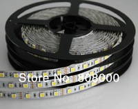 Free shipping LED strip 5050 SMD 12V flexible light 60LED/m,5m 300LED,White,White warm,Blue,Green,Red,Yellow