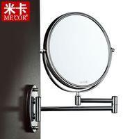 Mica wall retractable makeup mirror bathroom mirror Large double faced mirror fashion