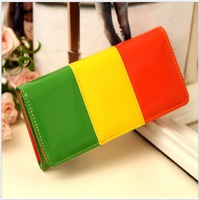 18*9CM Candy colors fashion women wallet long style PU leather lady wallets female coin purse handbag money purses mobile bags