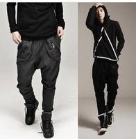 Spring 2014 Mens Harem Pants Thermal Sport Pants  Plus Size Drop Crotch Pants Men Sport Pants Free Shipping ly3-2