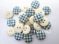 300pcs/lot 15mm Craft Buttons Wooden Painted Buttons Kids' Sewing Round Buttons For Scrapbooking