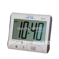 Free shipping Dc101 kitchen timer reminder electronic alarm fitness running stopwatch