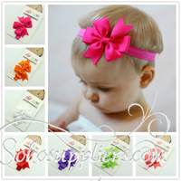 15Color Big Bowknot Baby Headbands Hair Ornaments Children Kids Headwear Baby Hairbands Photo Props 20pcs Free Shipping TS-14011