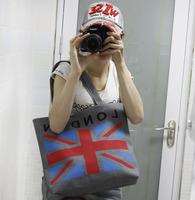 2014 Fashion New York  London Flag Women Canvas bag Multifunction High Capacity  Mami Diaper Shopping Bags