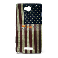 Vintage US Flag TPU Skin Gel Case For Sony Xperia C C2305 S39h Free Shipping