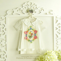 Special!~ Wholesale 5pcs/lot (#2697),girls tops,children t shirts,girls clothes of Korean style,2014 summer new arrival
