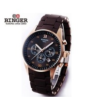 new 2014 fashion band watch Binger accusative case watch male watch stainless steel mens watch series stoppled sports ar5890