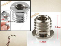 "free 100pcs silver 1/4"" to 3/8"" Convert Screw Adapter for Tripod & Monopod 1/4-3/8 inch"