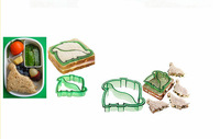 36pcs/lot BPA-free Kitchenware Plastic Cartoon Sandwich Bread Pancake mould set of 9 designs DIY sandwich cutter free by EMS