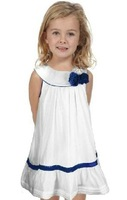 Free Shipping,1pcs/lot, 2014 new children dress,children DK** brand flowers design girl's dress,2-7year,white color