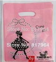 18*23CM free shipping High Quality HDPE Custom Printing Plastic Bag for Market