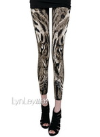 2014 New Arrive Women's Clothing Skinny Lightweight Tiger Pattern Waist Lady's Casual Pants VQ355
