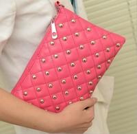 2014 Fashion women handbags rivet chain vintage envelope messenger bag women's day clutch handbag shoulder crossbody bags totes