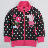 2014 New Coat Autumn And Winter Peppa Pig Cotton Jackets Children Sleeve Sweatshirts Kids Apparels Infantil Roupa Coats Tutu