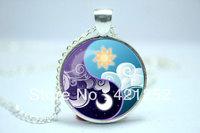 10pcs/lot  My Little Pony Princess Luna and Princess Celestia Yin and Yang inspired glass cabochon dome pendant
