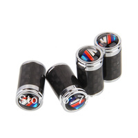 High Quality Universal Carbon Fiber Car Tyre Tire Valve Stem Cap Fit For BMW ///M M  #C3