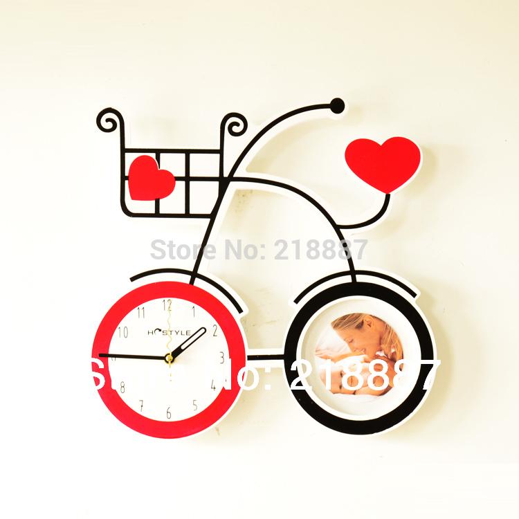Horloge murale v lo promotion achetez des horloge murale for Decoration murale velo