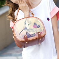 2013 small fresh candy color shoulder bag messenger bag female bags doodle fashion small bag