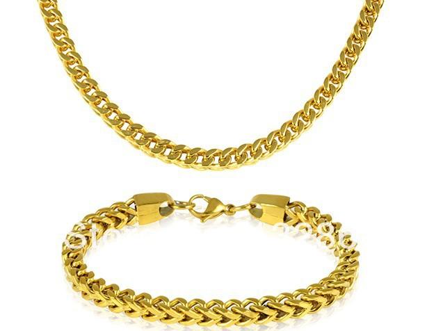 Gold Tone Jewelry Gold-tone Franco Chain Men's