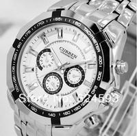 Free Drop Shipping     CURREN Brand Men Sports Watches with Calendar,Men full steel Quartz watches