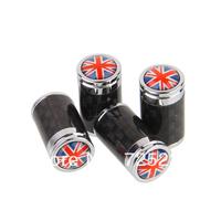 High Quality Universal Carbon Fiber Car Tyre Tire Valve Stem Cap Fit For UK Flag  #C3