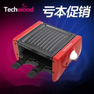 Techwood electric heating BBQ grill tw-104 mini lampblack meat machine home lovers(China (Mainland))