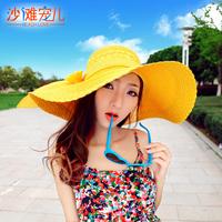 Beach Love New Arrival Korean Style Women's Straw Braid Sun Hat  In Summer Beach Cap Fashion Sun Hat For Travel In 2014