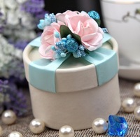 Hot Sale Bride and Groom Box  Free Shipping 10pcs/lot Bride and Groom Wedding blue Favor Boxes Gift box Candy box WD14012