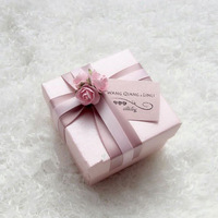 Hot Sale Bride and Groom Box  Free Shipping 10pcs/lot  flowers wedding candy box  WD1409