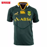 Canterbury 2014 Mens South Africa Springboks Rugby pro S/S jersey embroidery chest S-5XL Free shipping