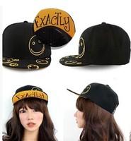 new smiley faces hip-hop hat , the same paragraph Korean baseball cap, men and women hat