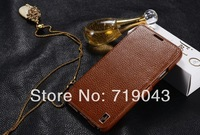 Vintage Luxury Leather Case For Samsung Galaxy Note 3 III N9000 Flip with Fashion Logo Original Design Brown Black Drop Ship