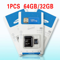 1pCS Memory cards Micro SD card 32GB class 10 Memory cards 64GB 16GB 8GB Microsd TF card Pen drive Flash + Adapter + gift Reader