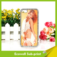 High Quality Sublimation Diamond Case for iPhone 4 4s heat transfer printing 50pcs/lot free shipping
