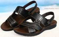 2014 Hot 100%  First Layer Genuine Leather Summer Shoes Mens Leisure Sandal Men Casual Shoes men's Fashion Shoes 2 Colors