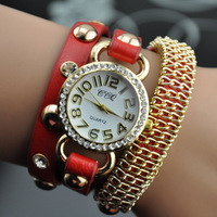 women's fashion bracelet vintage watch ladies dress quartz watch female clock wristwatch free shipping