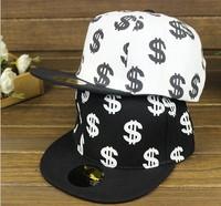 $ Dollars patterns hip-hop  baseball caps, casual hats for men and women,Snapback Hat, Hats & Caps