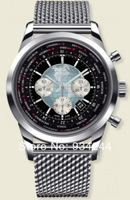 Wholesale - Hot Transocean Chronograph Quartz Watch Vintage Stainless steel Men's Sport Watch Mens Wrist Watches
