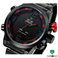 2014 New Hot Fashion WEIDE LED Watch Men Sport Watch Dual Japan Quartz Movement Wristwatch Men's Military Watch 3ATM Waterproof