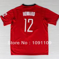 2013-14 Dwight Howard Christmas Jersey, Houston 12 Dwight Howard Christmas Jersey, Short Sleeve Basketball Jersey With Big Logo