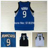 Kids Minnesota 9 Ricky rubio Basketball Jersey Youth New Fabrics REV 30 Basketball Jersey Youth Kid Basketball Jersey