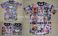 12 tyle California coastal storm Hot Fashion leather short-sleeved figures Crown 1991 INC men t-shirt