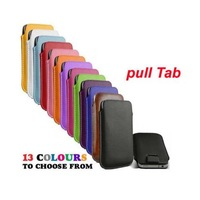100pcs/lot Wholesale Pull Tab Soft Leather Pouch Sleeve Case Cover For Samsung Galaxy S3 i9300 DHL free shipping