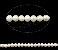 Free shipping!!!Potato Cultured Freshwater Pearl Beads,Supplies For Jewelry, natural, white, 4-5mm, Hole:Approx 0.8mm