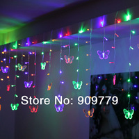 158 LED Garland Chandelier Luminaria Home Decoration Navidad Luminous Lamp 0.7M Holiday Lighting String Butterfly Pendant Lights