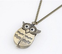 In 2013 South Korea style restoring ancient ways the owl pocket watch necklace with free shipping