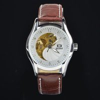 2014 Famous Brand Automatic Wrist Leather Men Mechanical Hand Wind,Men's Leather Strap WatchesSS8001