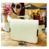 Women's fashion bag white women's handbag 2013 simple ol Women briefcase bag fashion bag