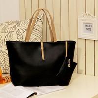 Promotion vintage simple PU leather bags women handbag Candy color Fashion Lady Ladies Women's shoulder bags Messenger Bag tote