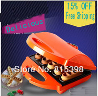 Red cake machine  household automatic temperature controlling waffle maker electric baking pan